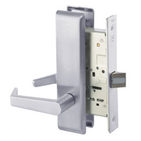 AUCN8801FL-626 Yale 8800FL Series Non-Keyed Mortise Passage Locks with Augusta Lever in Satin Chrome