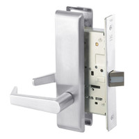 AUCN8801FL-625 Yale 8800FL Series Non-Keyed Mortise Passage Locks with Augusta Lever in Bright Chrome