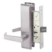 AUCN8801FL-630 Yale 8800FL Series Non-Keyed Mortise Passage Locks with Augusta Lever in Satin Stainless Steel