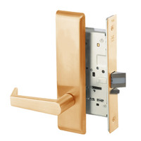 AUCN8828FL-612 Yale 8800FL Series Non-Keyed Mortise Exit Locks with Augusta Lever in Satin Bronze