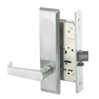 AUCN8828FL-618 Yale 8800FL Series Non-Keyed Mortise Exit Locks with Augusta Lever in Bright Nickel