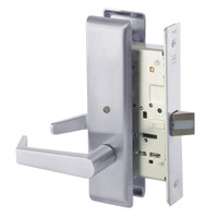 AUCN8862FL-626 Yale 8800FL Series Non-Keyed Mortise Bathroom Locks with Augusta Lever in Satin Chrome