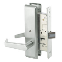 AUCN8862FL-618 Yale 8800FL Series Non-Keyed Mortise Bathroom Locks with Augusta Lever in Bright Nickel