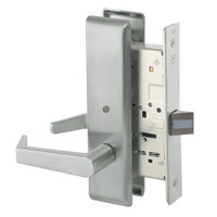 AUCN8862FL-619 Yale 8800FL Series Non-Keyed Mortise Bathroom Locks with Augusta Lever in Satin Nickel