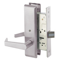 AUCN8862FL-630 Yale 8800FL Series Non-Keyed Mortise Bathroom Locks with Augusta Lever in Satin Stainless Steel