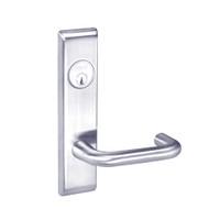 CRCN8807FL-625 Yale 8800FL Series Single Cylinder Mortise Entrance Locks with Carmel Lever in Bright Chrome
