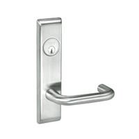 CRCN8829FL-618 Yale 8800FL Series Single Cylinder Mortise Closet Locks with Carmel Lever in Bright Nickel