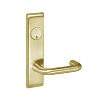 CRCN8861FL-606 Yale 8800FL Series Single Cylinder with Deadbolt Mortise Dormitory or Storeroom Lock with Indicator with Carmel Lever in Satin Brass