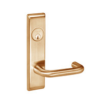 CRCN8861FL-612 Yale 8800FL Series Single Cylinder with Deadbolt Mortise Dormitory or Storeroom Lock with Indicator with Carmel Lever in Satin Bronze