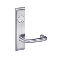 CRCN8867FL-626 Yale 8800FL Series Single Cylinder with Deadbolt Mortise Dormitory or Exit Lock with Indicator with Carmel Lever in Satin Chrome