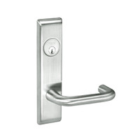 CRCN8867FL-618 Yale 8800FL Series Single Cylinder with Deadbolt Mortise Dormitory or Exit Lock with Indicator with Carmel Lever in Bright Nickel