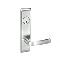 MOCN8809FL-618 Yale 8800FL Series Single Cylinder Mortise Classroom w/ Thumbturn Locks with Monroe Lever in Bright Nickel