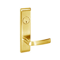 MOCN8860FL-605 Yale 8800FL Series Single Cylinder with Deadbolt Mortise Entrance or Storeroom Lock with Indicator with Monroe Lever in Bright Brass
