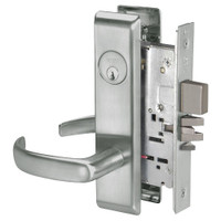 PBCN8812-2FL-619 Yale 8800FL Series Double Cylinder Mortise Classroom Security Deadbolt Locks with Pacific Beach Lever in Satin Nickel
