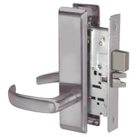 PBCN8802FL-630 Yale 8800FL Series Non-Keyed Mortise Privacy Locks with Pacific Beach Lever in Satin Stainless Steel
