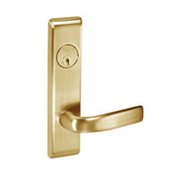 JNCN8824FL-606 Yale 8800FL Series Single Cylinder Mortise Hold Back Locks with Jefferson Lever in Satin Brass