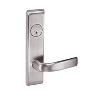 JNCN8822FL-630 Yale 8800FL Series Single Cylinder with Deadbolt Mortise Bathroom Lock with Indicator with Jefferson Lever in Satin Stainless Steel