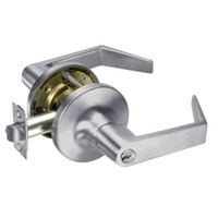 AU5408LN-626 Yale 5400LN Series Single Cylinder Classroom Cylindrical Lock with Augusta Lever in Satin Chrome