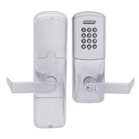 AD200-CY-70-KP-RHO-RD-626 Schlage Classroom/Storeroom Cylindrical Keypad Lock with Rhodes Lever in Satin Chrome