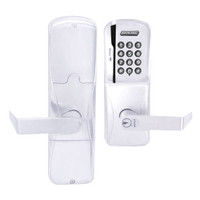 AD200-CY-70-MSK-RHO-RD-625 Schlage Classroom/Storeroom Magnetic Stripe Keypad Lock with Rhodes Lever in Bright Chrome