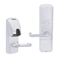 AD200-CY-70-MG-TLR-RD-625 Schlage Classroom/Storeroom Magnetic Stripe(Insert) Lock with Tubular Lever in Bright Chrome