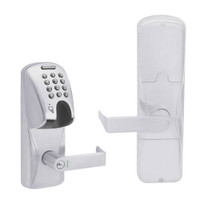 AD200-CY-70-MGK-RHO-RD-626 Schlage Classroom/Storeroom Magnetic Stripe(Insert) Keypad Lock with Rhodes Lever in Satin Chrome