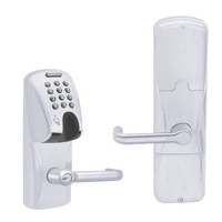 AD200-CY-70-MGK-TLR-RD-625 Schlage Classroom/Storeroom Magnetic Stripe(Insert) Keypad Lock with Tubular Lever in Bright Chrome
