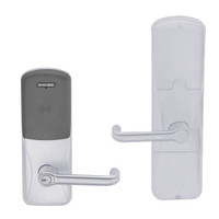 AD200-CY-70-MT-TLR-RD-626 Schlage Classroom/Storeroom Multi-Technology Lock with Tubular Lever in Satin Chrome