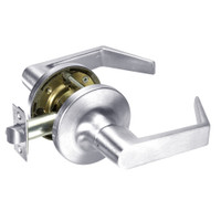 AU5403LN-625 Yale 5400LN Series Non-Keyed Patio or Privacy Cylindrical Locks with Augusta Lever in Bright Chrome