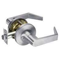 AU5409LN-626 Yale 5400LN Series Non-Keyed Exit Latch Cylindrical Locks with Augusta Lever in Satin Chrome