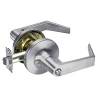 AU5425LN-626 Yale 5400LN Series Non-Keyed Privacy Cylindrical Locks with Augusta Lever in Satin Chrome
