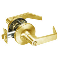 AU5425LN-605 Yale 5400LN Series Non-Keyed Privacy Cylindrical Locks with Augusta Lever in Bright Brass