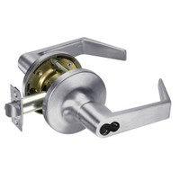 M-AU5408LN-626 Yale 5400LN Series Single Cylinder Classroom Cylindrical Locks with Augusta Lever Prepped for Medeco-ASSA IC Core in Satin Chrome