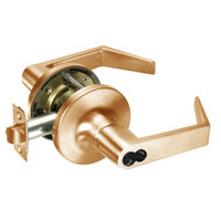 M-AU5408LN-612 Yale 5400LN Series Single Cylinder Classroom Cylindrical Locks with Augusta Lever Prepped for Medeco-ASSA IC Core in Satin Bronze