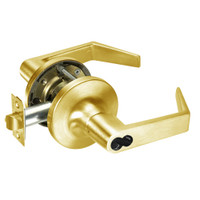 M-AU5417LN-605 Yale 5400LN Series Double Cylinder Apartment or Exit Cylindrical Locks with Augusta Lever Prepped for Medeco-ASSA IC Core in Bright Brass