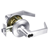 M-AU5417LN-625 Yale 5400LN Series Double Cylinder Apartment or Exit Cylindrical Locks with Augusta Lever Prepped for Medeco-ASSA IC Core in Bright Chrome