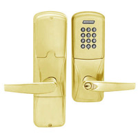 AD200-CY-50-KP-ATH-RD-605 Schlage Office Cylindrical Keypad Lock with Athens Lever in Bright Brass