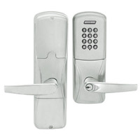AD200-CY-50-KP-ATH-RD-619 Schlage Office Cylindrical Keypad Lock with Athens Lever in Satin Nickel