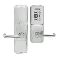AD200-CY-50-KP-TLR-RD-619 Schlage Office Cylindrical Keypad Lock with Tubular Lever in Satin Nickel