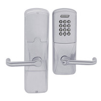 AD200-CY-50-KP-TLR-RD-626 Schlage Office Cylindrical Keypad Lock with Tubular Lever in Satin Chrome