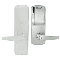 AD200-CY-50-MS-ATH-RD-619 Schlage Office Magnetic Stripe(Swipe) Lock with Athens Lever in Satin Nickel