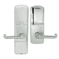 AD200-CY-50-MS-TLR-RD-619 Schlage Office Magnetic Stripe(Swipe) Lock with Tubular Lever in Satin Nickel