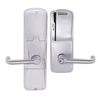 AD200-CY-50-MS-TLR-RD-626 Schlage Office Magnetic Stripe(Swipe) Lock with Tubular Lever in Satin Chrome