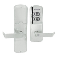 AD200-CY-50-MSK-RHO-RD-619 Schlage Office Magnetic Stripe Keypad Lock with Rhodes Lever in Satin Nickel