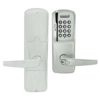 AD200-CY-50-MSK-ATH-RD-619 Schlage Office Magnetic Stripe Keypad Lock with Athens Lever in Satin Nickel