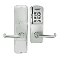 AD200-CY-50-MSK-TLR-RD-619 Schlage Office Magnetic Stripe Keypad Lock with Tubular Lever in Satin Nickel