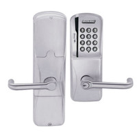 AD200-CY-50-MSK-TLR-RD-626 Schlage Office Magnetic Stripe Keypad Lock with Tubular Lever in Satin Chrome