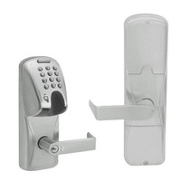 AD200-CY-50-MGK-RHO-RD-619 Schlage Office Magnetic Stripe(Insert) Keypad Lock with Rhodes Lever in Satin Nickel