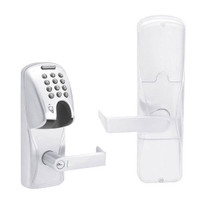 AD200-CY-50-MGK-RHO-RD-625 Schlage Office Magnetic Stripe(Insert) Keypad Lock with Rhodes Lever in Bright Chrome