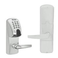 AD200-CY-50-MGK-ATH-RD-619 Schlage Office Magnetic Stripe(Insert) Keypad Lock with Athens Lever in Satin Nickel
